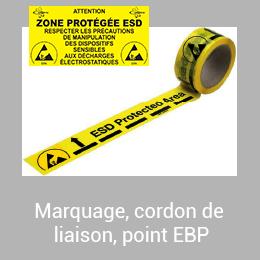 Marquage, cordon de liaison, point EBP