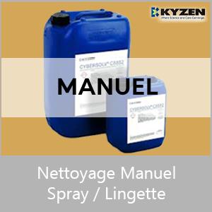 Nettoyage manuel spray/lingette
