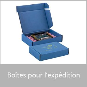 Boîtes pour l'expédition