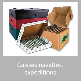 Caisses navettes, expéditions