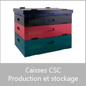 Caisses CSC - production et stockage