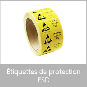 Etiquettes de protection ESD